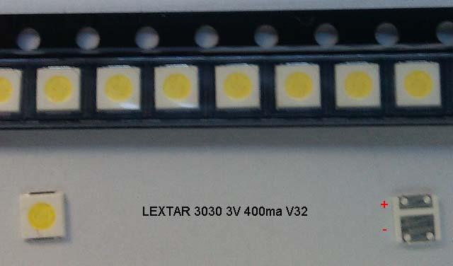 LED LEXTAR 3030 3V 400ma V32 LED для телевизора купить. Оболонь Киев Харьков Львов Одесса Днепр Запорожье Полтава Сумы Луцк