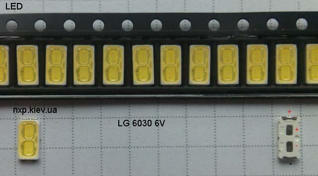LED LG 6030 6V 140ma LED для телевизора купить. Оболонь Киев Харьков Львов Одесса Днепр Запорожье Полтава Сумы Луцк